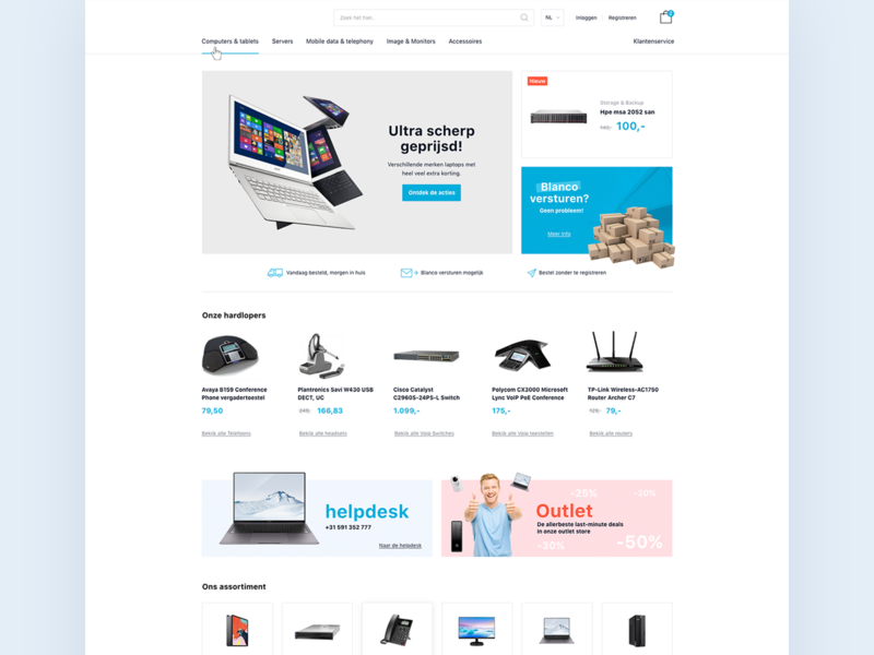 Clean business design (e-commerce) layout branding identity logo illustration typography responsive webdesign website electronica blue graphic design ui design clean  creative e-commerce ecommerce store flat clean