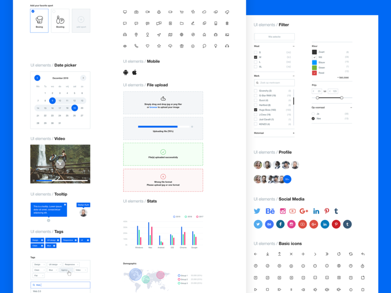 Styleguide by Stefan Kuhl dashboard color palettes social media profile calendar form tooltip brand styleguides typography ui kit library guidelines free icons pack elements icons design exploration color palette styleguide