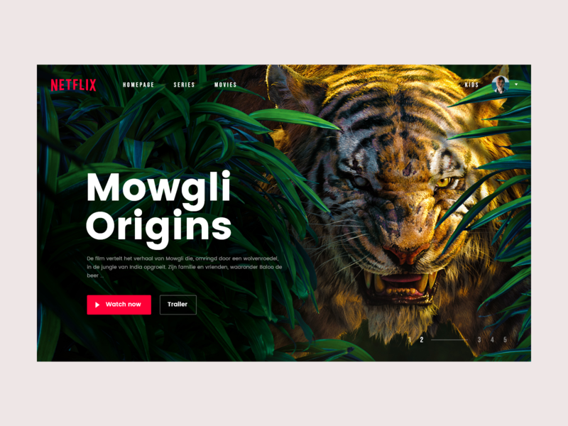 re-design Netflix identity app free responsive web flat ui clean site mowgli daredevil movie app webdesign inspirational inspiration design prototype movie redesign netflix
