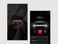 Tesla Model 3 app design