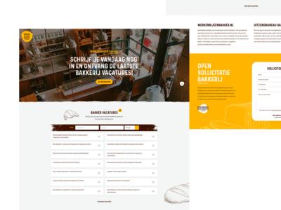 UI design for baker employment