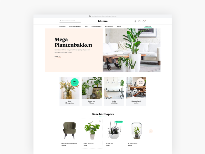 Interior ecommerce design playground illustration typography branding responsive elegant clean site flat ux inspiration template theme ui webshop shop design ecommerce interior