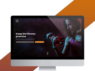 Landing page for a fitness center