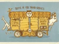 Devil In The Wood Shack Gig Poster