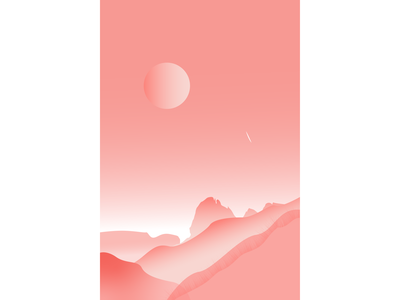 The Road to Mars mars vector minimal illustrator illustration