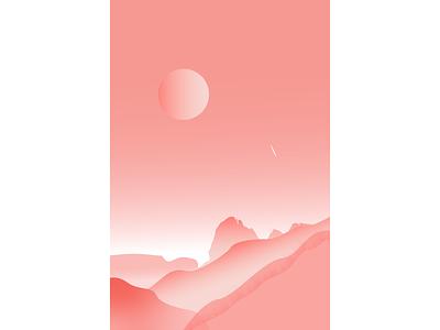 The Road to Mars mars vector minimal illustrator illustration