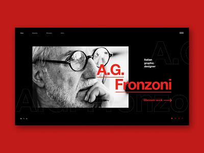 AG Fronzoni design science type minimal website web ux typography ui design
