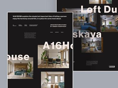 Redesign 1618room layout interior web website minimal type ui ux typography design science design
