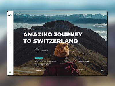 Journey to Switzerland layout website web ux ui typography type minimal design science design