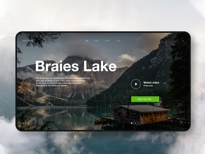 Braies lake travel layout website ux web ui typography type minimal design science design