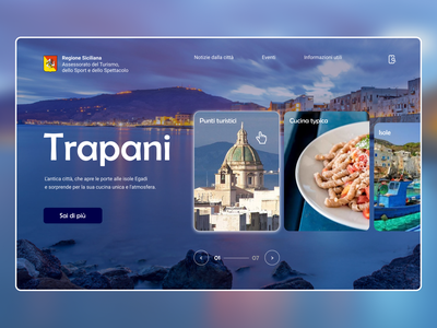 Trapani travel layout website web ux ui typography type minimal design science design