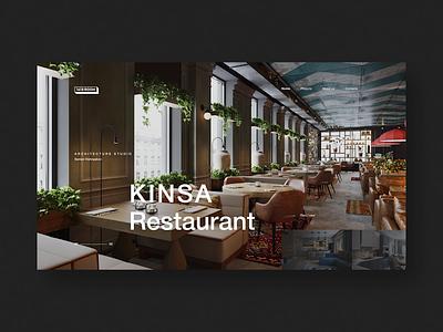 Kinsa restaurant cafe restaurant ux web website layout interior type ui typography minimal design science design