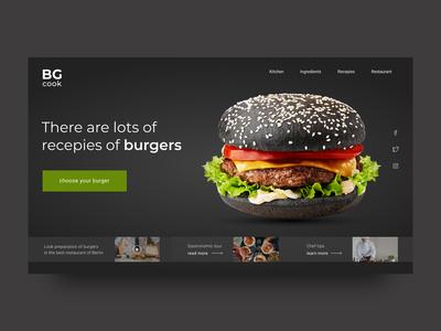 Burger cook