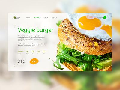 Veggieburger beats burger cafe layout website web ux ui typography type minimal design science design
