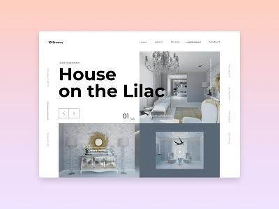 Apartments catalog promo page interior layout website web ux ui typography type minimal design science design