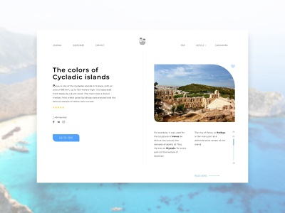 Travel Journal Concept travel layout website web ui ux typography type minimal design science design