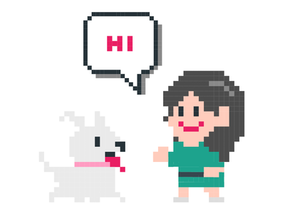 Me and my pet Nana Pixel art