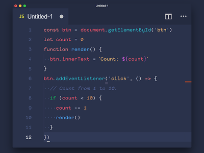 Code Blue for VSCode vscode color syntax theme code