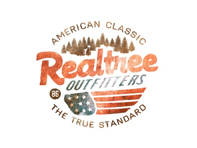 The True Standard logo outdoors trees hunting flag american americana classic branding photoshop. illustrator type