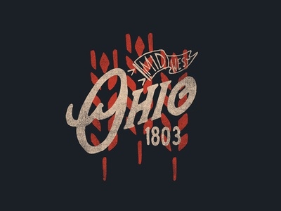 Ohio Tee | Midwest illustration photoshop design typography outdoors hand drawn texture apparel branding vintage