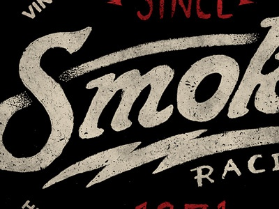 Smoke smoke racing motorsports lettering typography texture photoshop branding bolt vintage