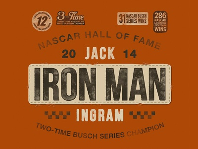 Iron Man tee t-shirt apparel racing motorsports tools vintage patch uniform championship
