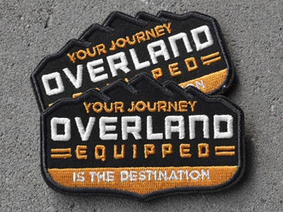 Overland Equipped | Patch gear overland mountains rugged off road adventure outdoors badge patch