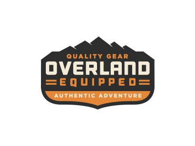 Overland Equipped | Badge Logo gear overland mountains rugged off road adventure outdoors badge patch