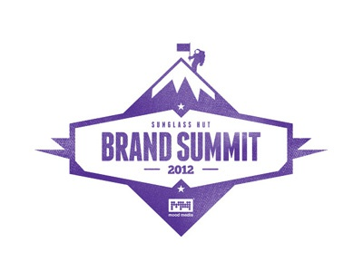 Sunglass Hut // Brand Summit Logo logo t-shirt tee purple typography