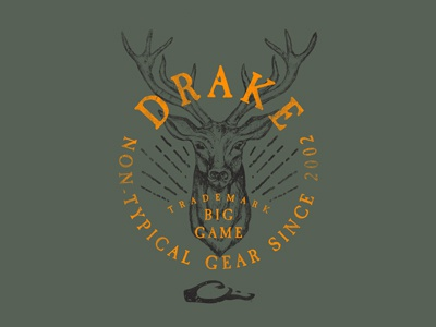 Drake | Apparel Design photoshop sketch illustration explore vintage rugged deer expedition hunting clothing apparel outdoors