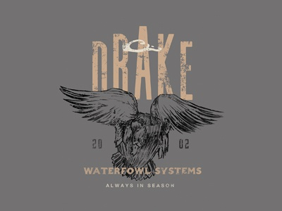 Drake Waterfowl graphic tee illustration branding apparel outdoors hunting duck