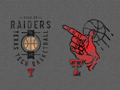 Texas Tech Basketball collegiate texture vintage hand drawn tee typography illustration apparel badge branding ncaa basketball