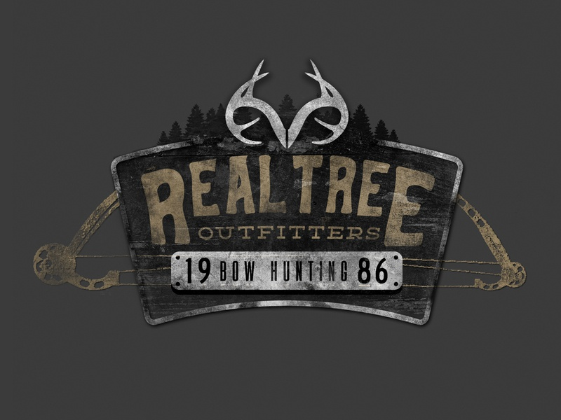 Realtree Outfitters | Bow Hunting hand drawn typography photoshop texture outdoors apparel badge logo vintage branding