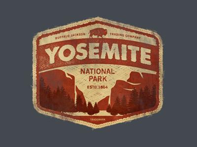 Yosemite vintage apparel authentic goods park outdoors logo branding badge patch