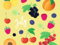 The seasonal fruits of July