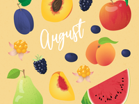 August Seasonal Fruits