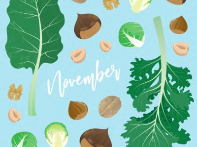 November's seasonal vegetables