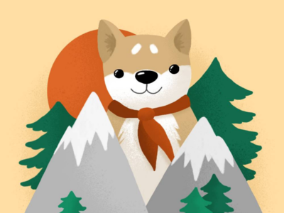 Shiba in the Mountains