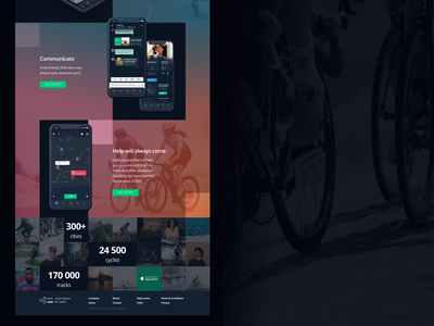 Hello velo landing page adobe xd bicycle cycling landing landing page webdesign ui mobile app