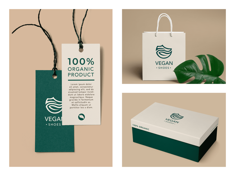 dribble vegan shoes logo 03 photoshop mockups stationery minimal flat logo illustrator branding design