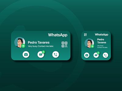WhatsApp Widget: Weekly Warm-up icon vector whatsapp adobe illustrator adobe photoshop ux ui widget ios dribbble apple application app design app