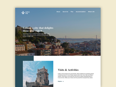 Landing page - Lisboa adobe photoshop adobexd portugal lisbon city website webdesign web hometown home challenge weeklywarmup landing page ux ui design