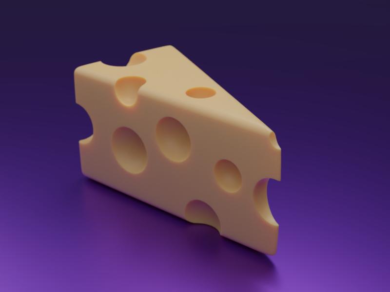 Cheese cheese cute 3d blender3d