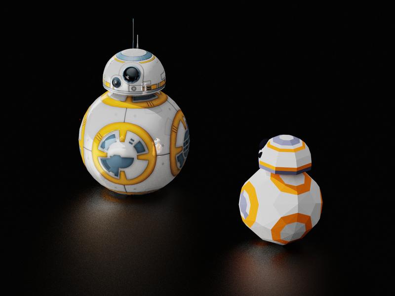 BB-8 3d blender starwars bb8