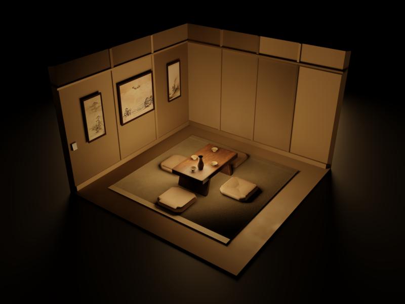 Tea Room japan blender 3d