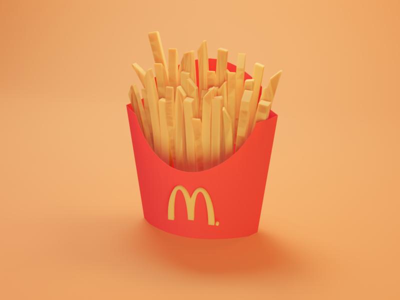 McDonald's mcdonalds lowpoly blender 3d