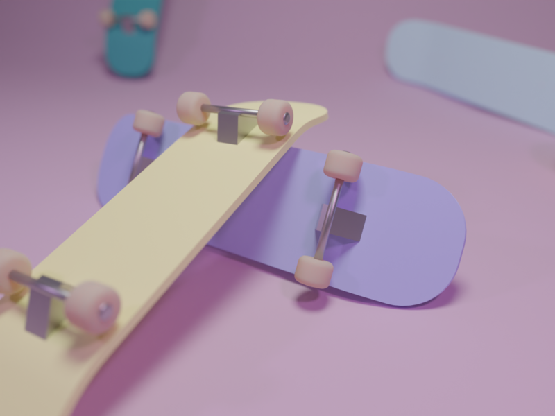 Skate cute illustration blender 3d