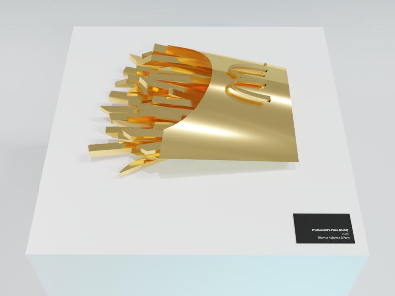McDonald's Fries (Gold) mcdonalds blender3d illustration blender 3d