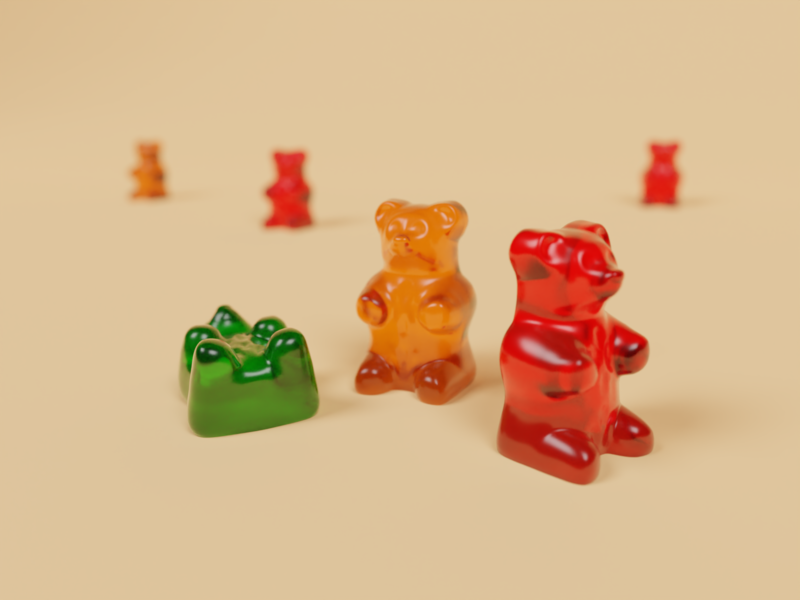 Gummy Bear jelly cinema4d blender3d illustration blender 3d bear gummy