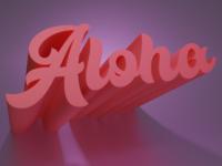 Aloha cinema4d cute blender3d blender 3d lettering aloha
